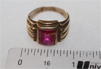 10K Gold Ring with Pink Stone