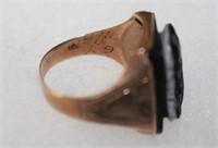 10K Gold Cameo Knight Ring