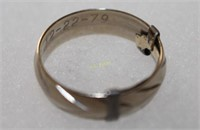 14K Gold Etched Band Ring