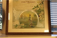 Framed Marriage Certificate and Wedding Program