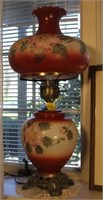 Footed Painted Electric Victorian Style Lamp