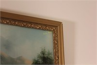 Framed Painted Glass
