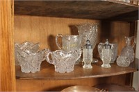 Carnival Glass Dish, Depression Glass, and More