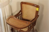 Wooden Convertible Child's High/Rocking Chair