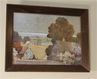 Framed Village and Desert Prints
