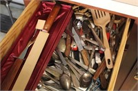 Two Drawers of Flatware