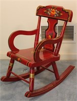 Painted Child's Rocking Chair
