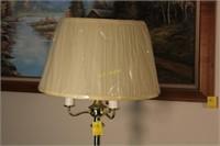 Brass Candelabra Style Floor Lamp