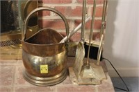 Brass Plated Fire Place Tools and Items