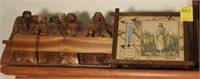 Wooden Last Supper, Jesus Print Thermometer