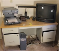 Microfilm Reader, Paper Shredder, Lamp, and More