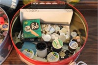 Buttons, Tins, and Sewing Supplies