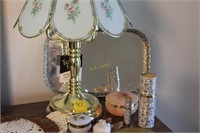 Touch Lamp, Mirrored Tray, Fan, Nail Kit, and More