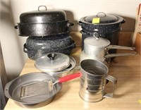 Roasters, Pots, Double Boiler, and More