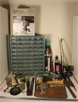 Craftsman Hand Drill, Hardware Cabinet, and More