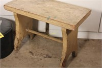 Wooden Stool and Small Ottoman