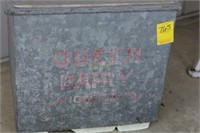 Queen Dairy Lancaster PA Milk Box