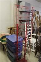 Metal Display Rack, 66 tall