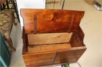 Wooden Storage Chest,34x17x23 tall