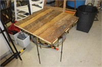 Reclaimed Wood Top Table,24x25x28 tall