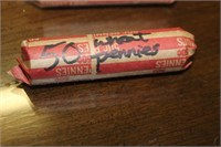 Roll of 50 Wheat Pennies