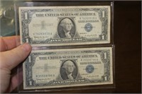 Two 1957 Silver Certificates