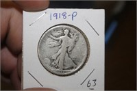 1918-P Walking Liberty Half Dollar