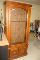 """Gun Cabinet, 31X12X74"""" tall"""