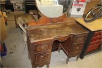 "Antique Vanity, 42X17X65"" tall"