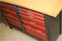 "Tool Box Work Bench, 54X20X34"" tall"