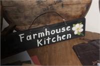 Farmhouse Kitchen Wooden Sign