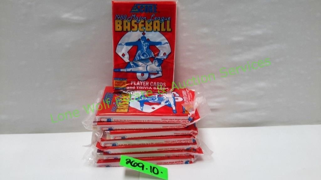1988 Score Baseball Cards Booster Pack Hibid Auctions