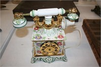 French Telephone Hand Painted Italy