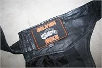 4XL Silver Bike Leather Chaps