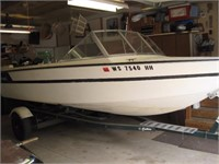 1972 Star Craft American 18' boat with 115HP Mercury Motor and Caulkin's single axle trailer with new tires.
