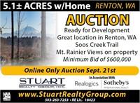 Renton, WA Development Real Estate Auction
