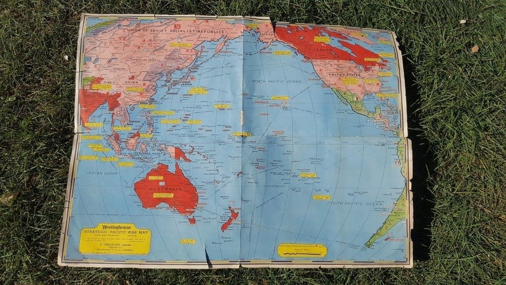 Westinghouse WW2 Strategic Pacific War Map   Apex Events
