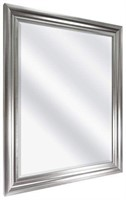 """26.5""""X 32.5"""" WALL MIRROR, BRUSHED SILVER"""