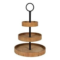 WOODMONT 3-TIER TRAY BROWN