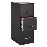 3-DRAWER LETTER FILE CABINET APPROX 4ftH