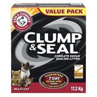 CLUMP & SEAL CAT LITTER 17.2KG