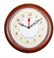 ANALOG TIME DAY OF THE WEEK CLOCK