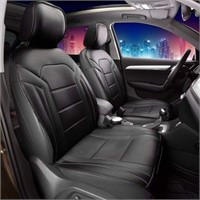 2PC FH GROUP QUILYTED LEATHER SEAT COVER