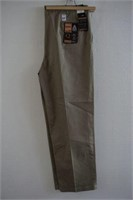 HAGGAR PREMIUM DRESS KHAKI 42X32 MENS PANTS