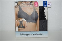BLACK BOW LACE BRALETTE LIGHT SUPPORT LARGE