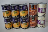 LOT OF 10 ASSORTED CAN FOODS