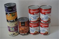 LOT OF 7 ASSORTED CAN FOODS