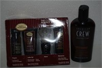 LOT OF MENS SUPPLIES (SHAVING KIT AND SHAMPOO)
