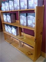 Solid Pine Wood Storage Shelf
