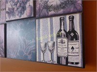 Pair of Wine Decorator Wall Art